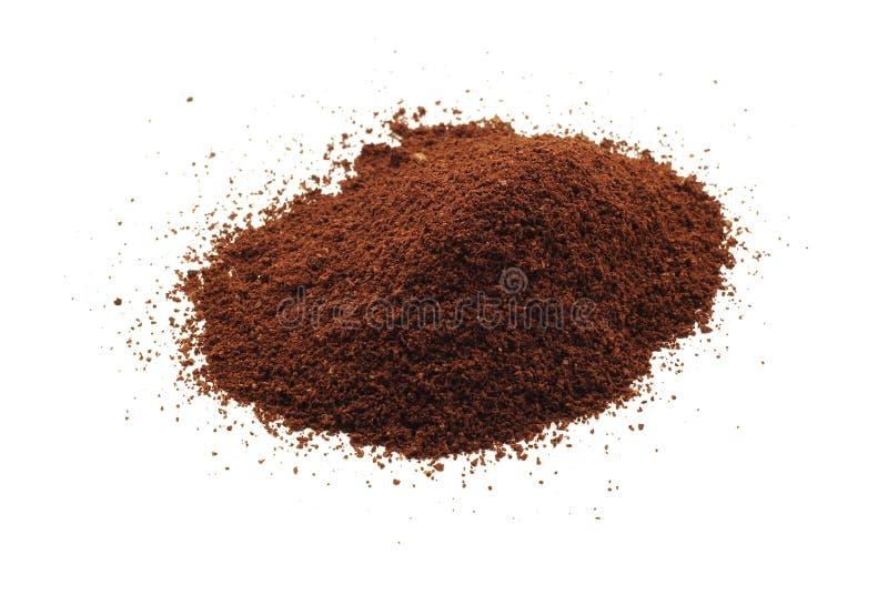 kaffe isolerat pulver royaltyfria bilder