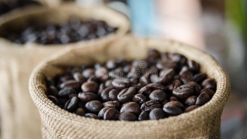 kaffe kärnar ur arkivfoton