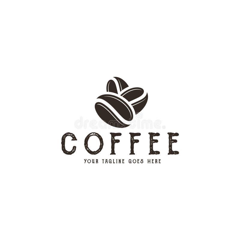 Kaffe logo stock illustrationer