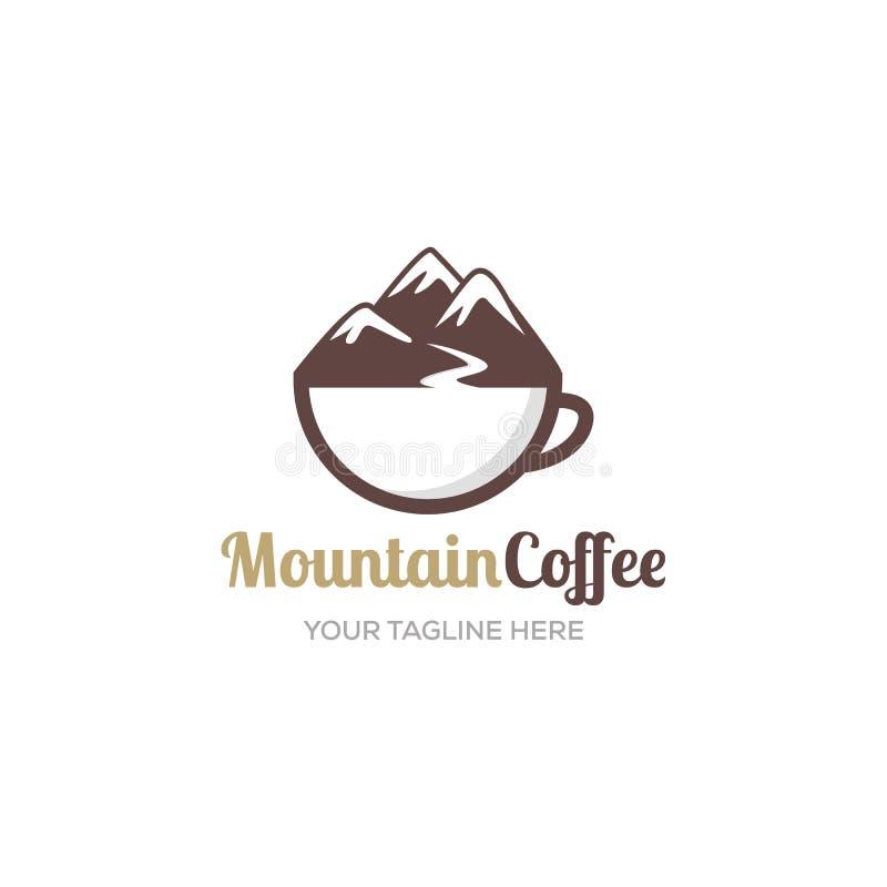 Kaffe logoen, tappning, shoppar, cappuccino, koppen, vektorn, emblemet som är nytt, logotypen, mallen, bönan, affären, kafét, kaf stock illustrationer