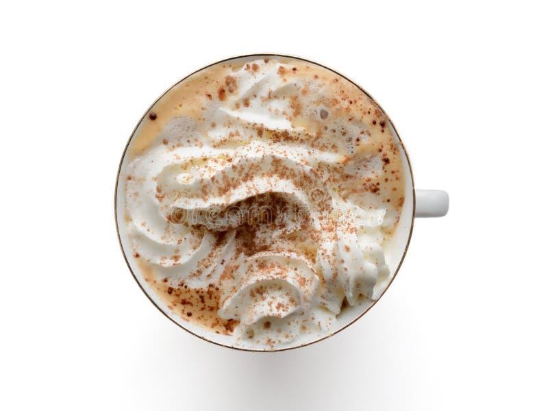 Kaffe med kräm royaltyfria foton