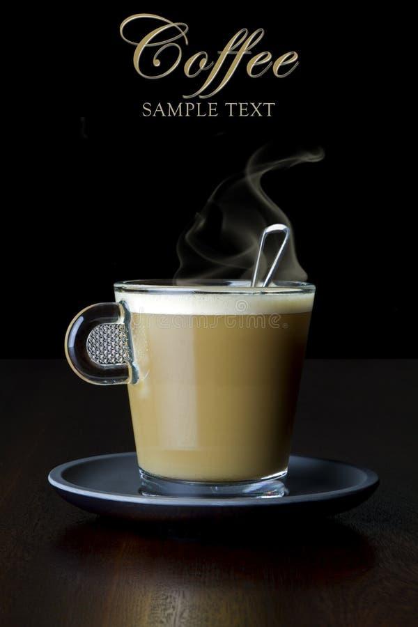Kaffe med mjölkar royaltyfri bild