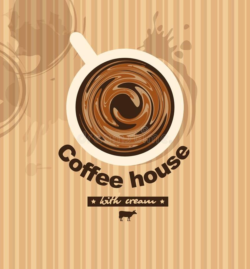 Kaffe med mjölkar vektor illustrationer