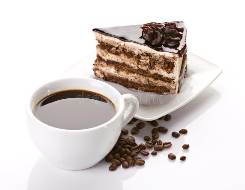 Kaffe och cake royaltyfri bild
