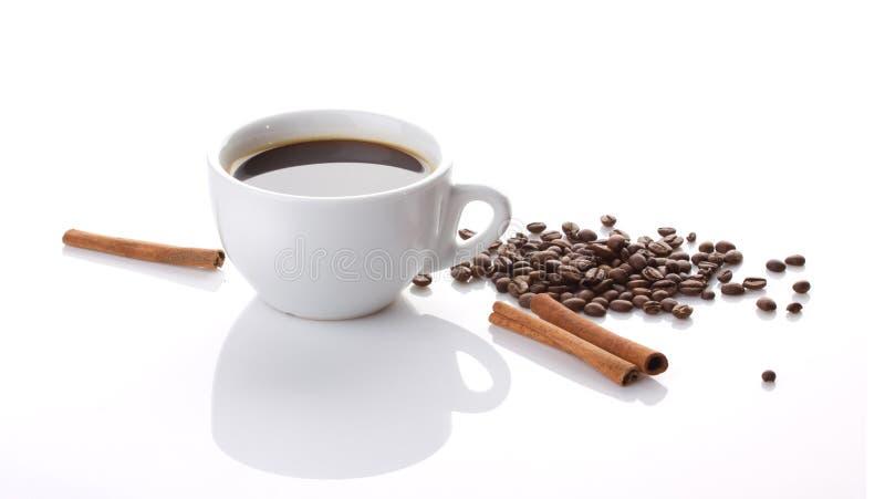 Kaffe och kanel royaltyfria foton