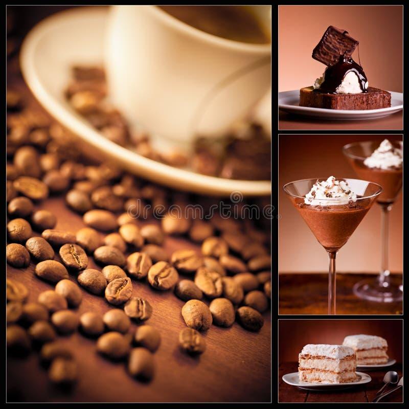 Kaffe och tårta arkivfoto