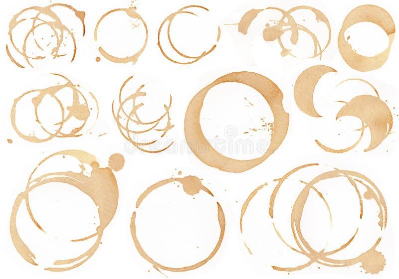 Kaffe- och vinfläck 1 royaltyfri illustrationer