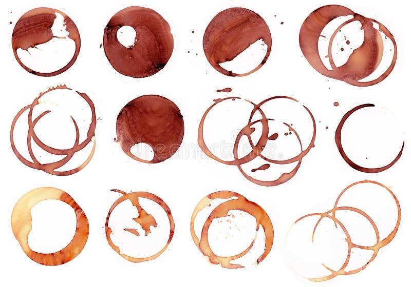Kaffe- och vinfläck 3 royaltyfri illustrationer