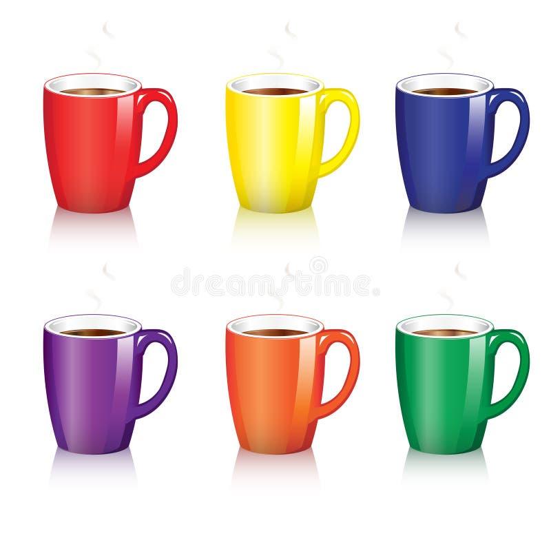 kaffe rånar royaltyfri illustrationer