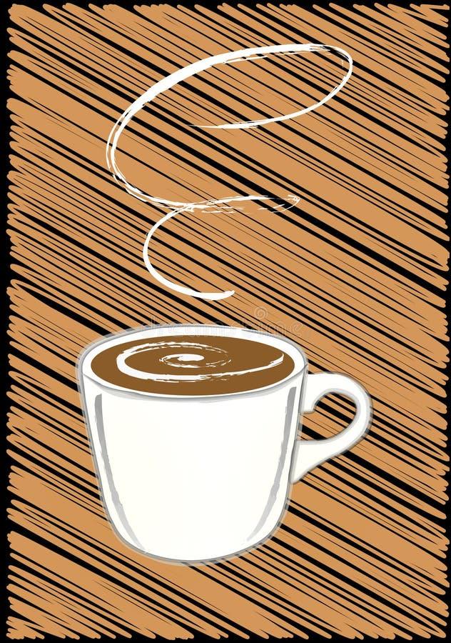 kaffe rånar stock illustrationer