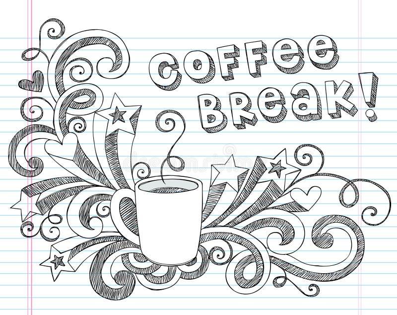Kaffe rånar klottervektorillustrationen royaltyfri illustrationer