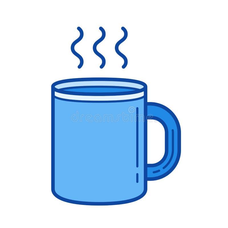 Kaffe rånar linjen symbol royaltyfri illustrationer