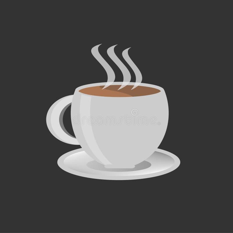 Kaffe rånar med den varma kaffevektorn och illustrationen royaltyfri illustrationer