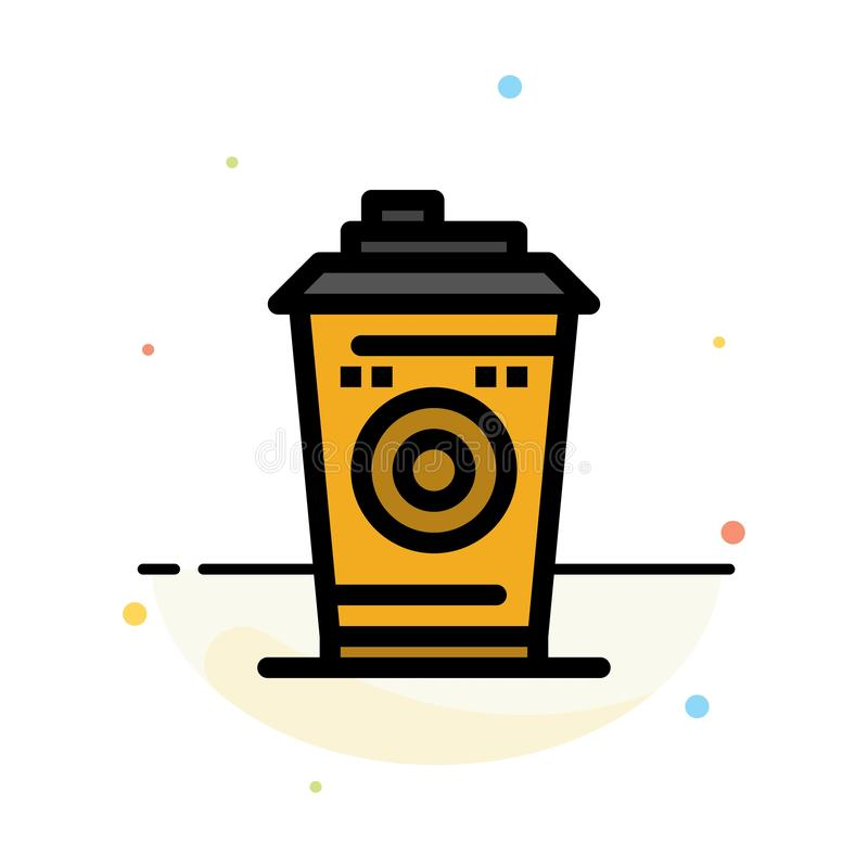Kaffe rånar, Starbucks, för färgsymbol för svart kaffe abstrakt plan mall stock illustrationer