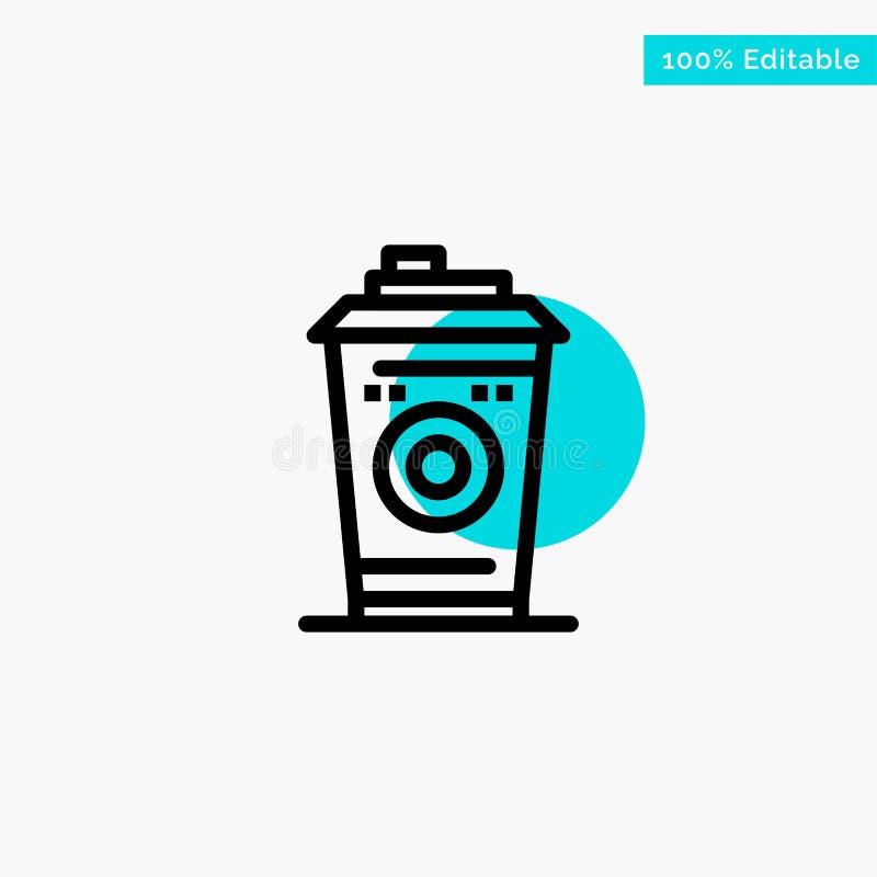 Kaffe rånar, Starbucks, för turkosviktig för svart kaffe symbol för vektor för punkt för cirkel vektor illustrationer