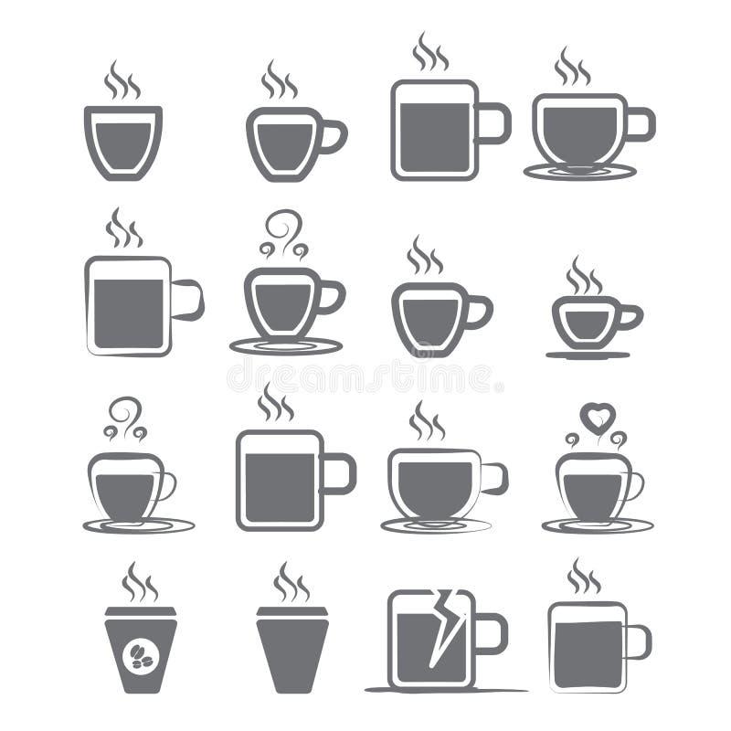 Kaffe rånar symbolen vektor illustrationer