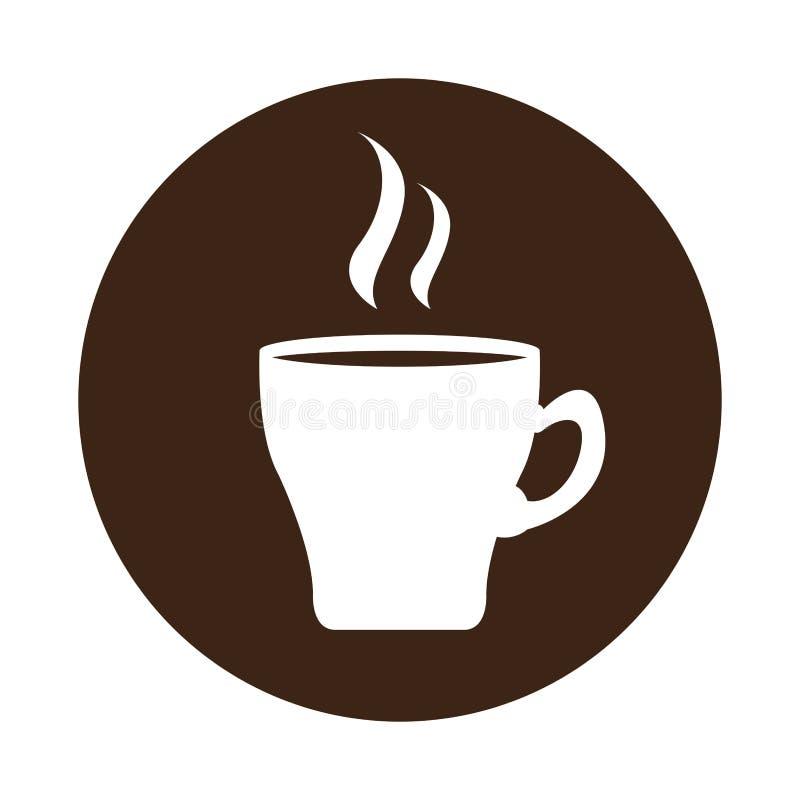 Kaffe rånar symbolen på en etikett royaltyfri illustrationer