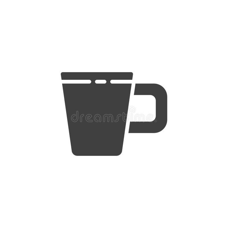 Kaffe r?nar vektorsymbolen royaltyfri illustrationer