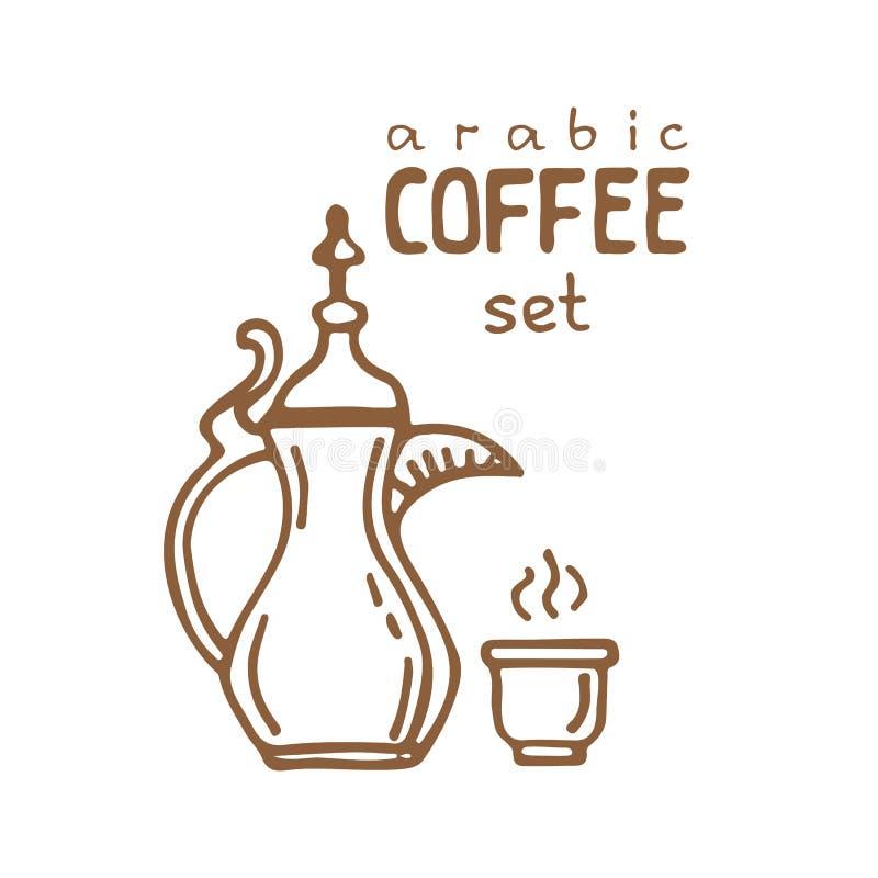 Kaffe set-14 royaltyfri illustrationer
