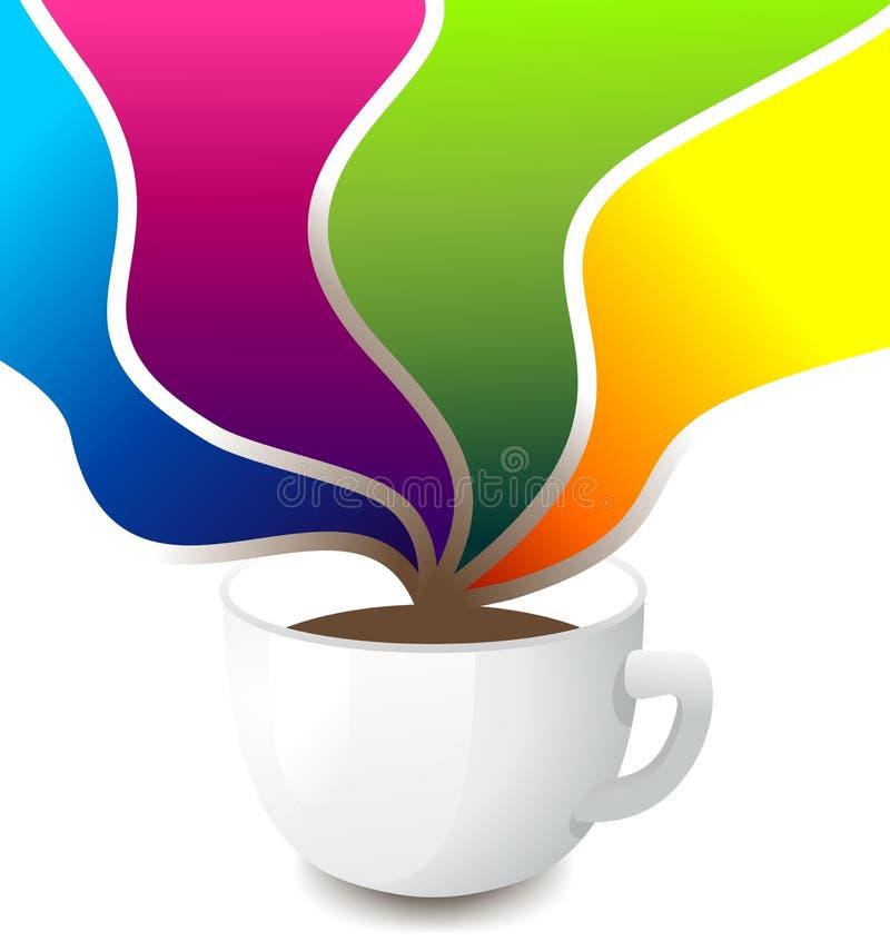 Kaffe som ett lyckabegrepp vektor illustrationer