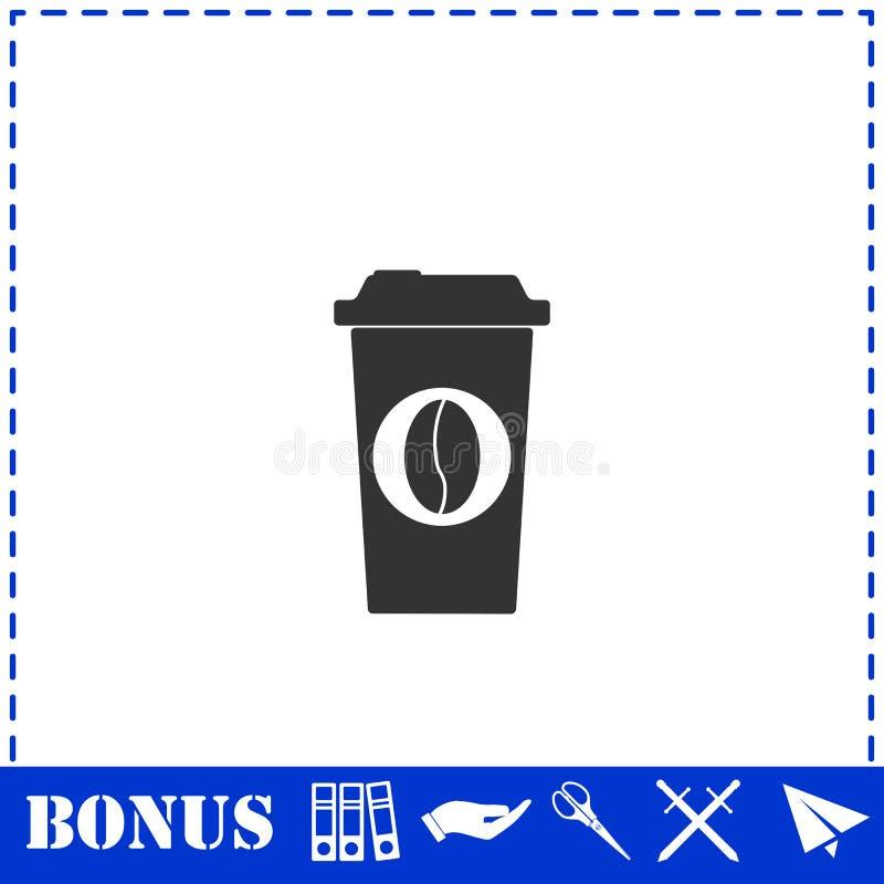 Kaffe som framl?nges g?r symbol royaltyfri illustrationer