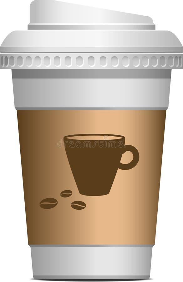 Kaffe som går vektor illustrationer