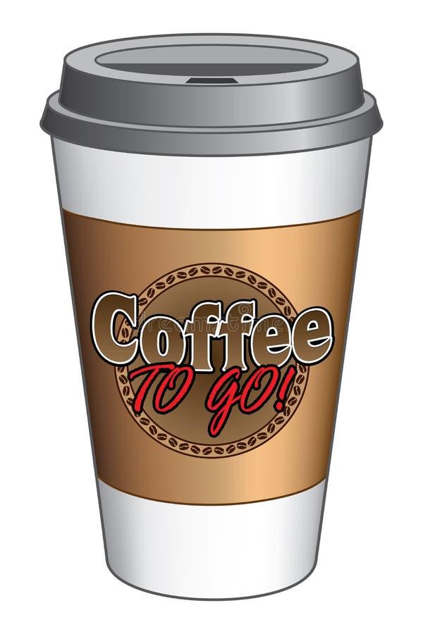 Kaffe som går kopp stock illustrationer