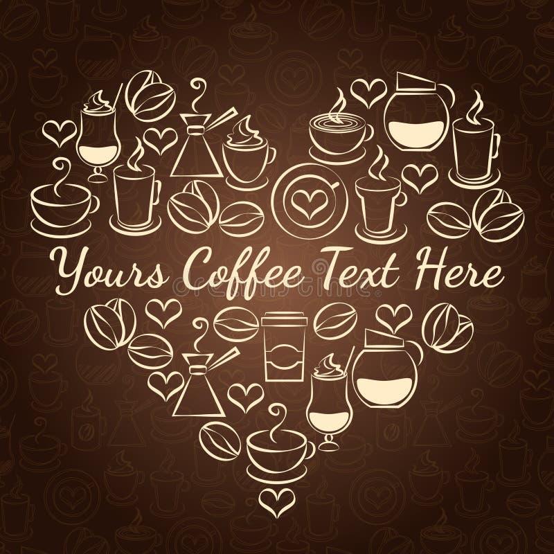 kaffe som jag älskar vektor illustrationer