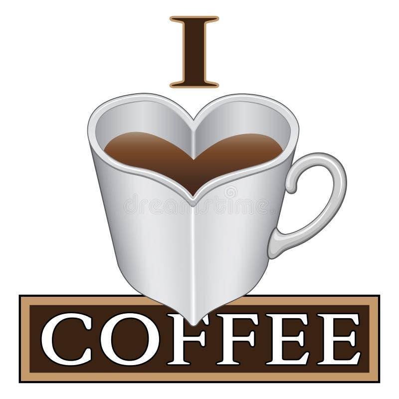 kaffe som jag älskar stock illustrationer