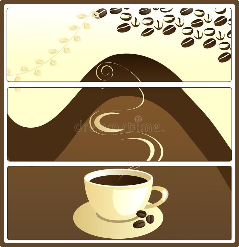 kaffe tags vektorn royaltyfri illustrationer