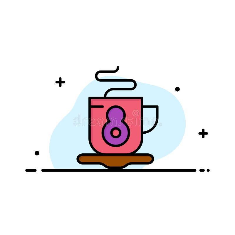 Kaffe te, varm affär Logo Template plan f?rg vektor illustrationer