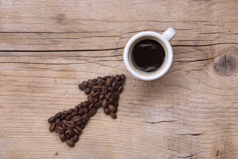 kaffe till långt royaltyfria bilder