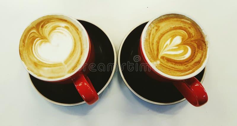 kaffe två royaltyfri foto