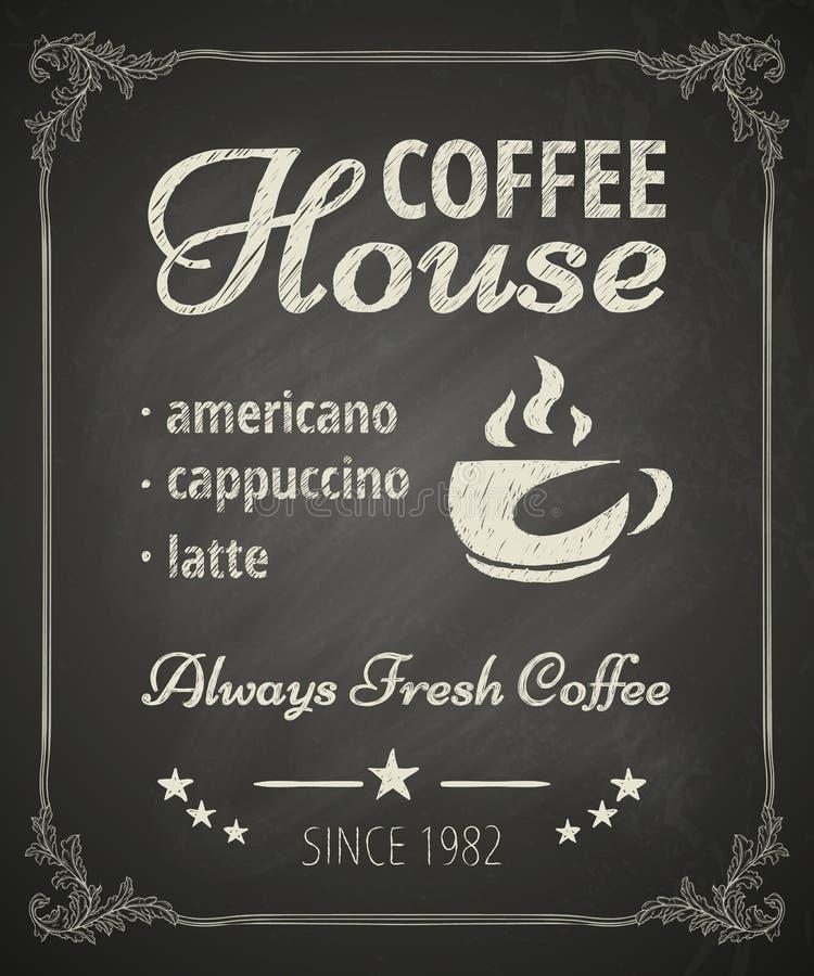 Kaffeaffisch stock illustrationer