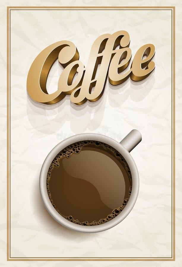 kaffeaffischmall royaltyfri illustrationer