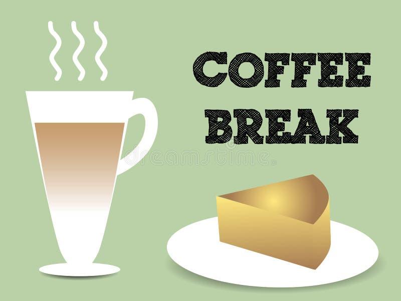 Kaffeavbrott stock illustrationer