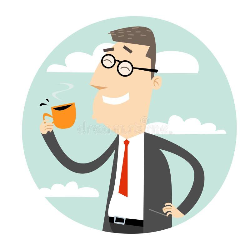 Kaffeavbrott vektor illustrationer