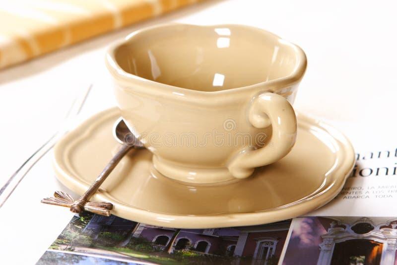 kaffeavkopplingtid arkivfoto