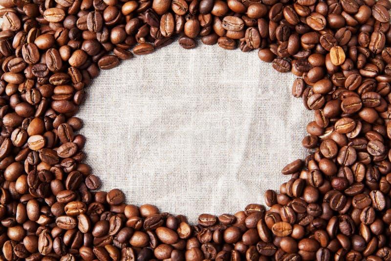 Kaffebönabakgrund fotografering för bildbyråer