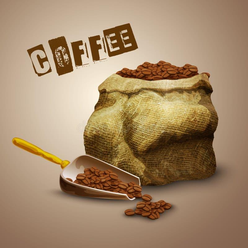 Kaffebönapåse stock illustrationer