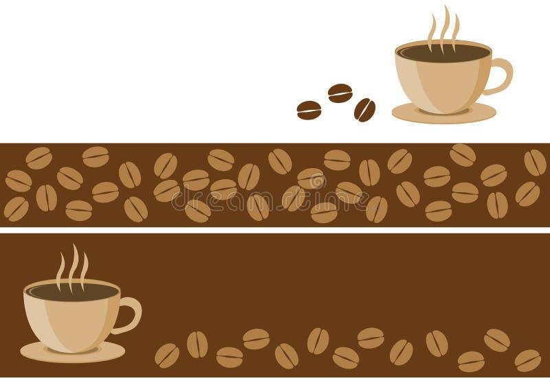 Kaffebaner stock illustrationer