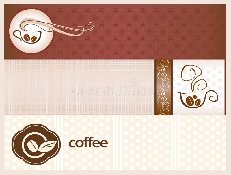 Kaffebaner royaltyfri illustrationer