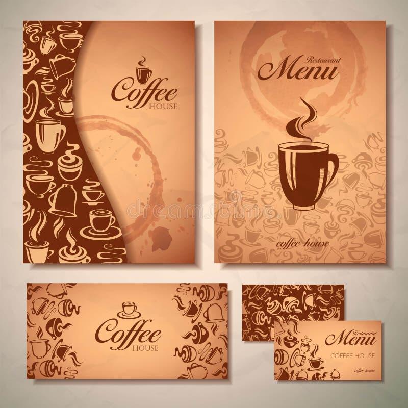 Kaffebegreppsdesign vektor illustrationer