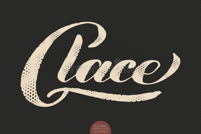 Kaffebokstäver Glace dragen kalligrafi för vektor hand Elegant modern kalligrafifärgpulverillustration Typografiaffisch på vektor illustrationer