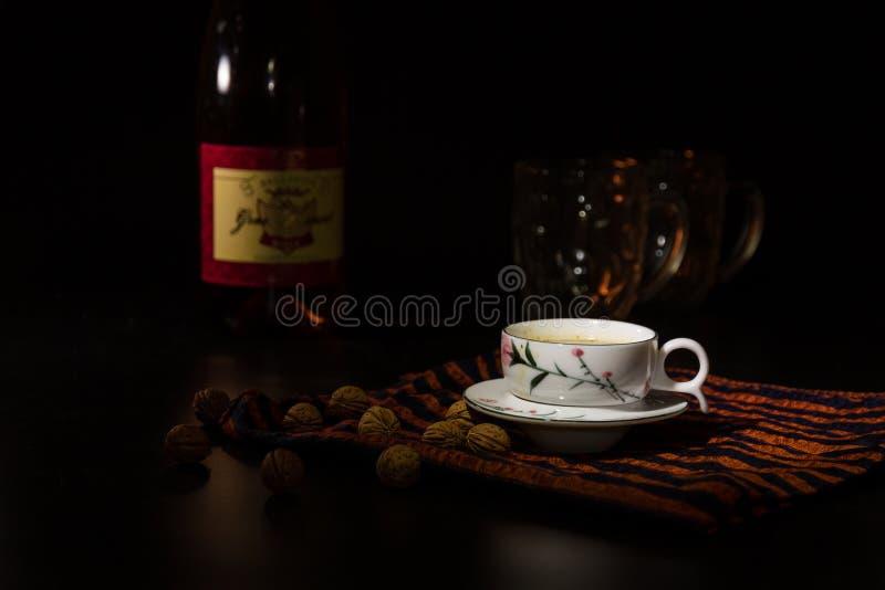 Kaffebordsservis royaltyfri fotografi