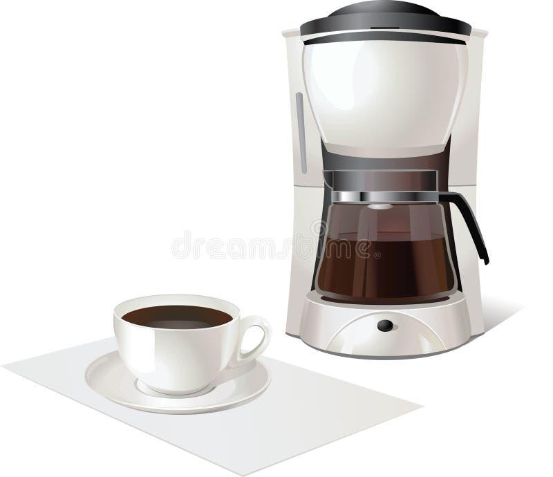 kaffebryggare royaltyfri illustrationer