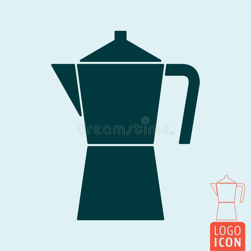 Kaffebryggaresymbol stock illustrationer