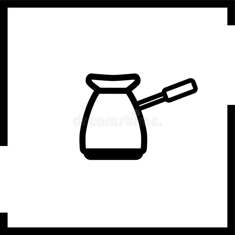 Kaffebryggaresymbol i fyrkantig ram vektor illustrationer