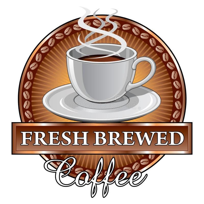 KaffedesignSunburst royaltyfri illustrationer