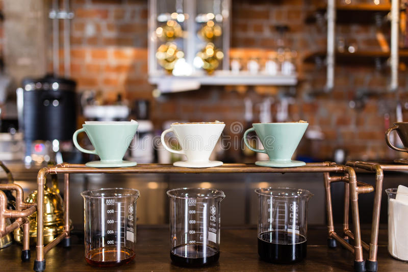 Kaffedroppande royaltyfria foton